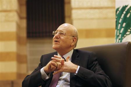 El premier durante una entrevista a Reuters en el Grand Serail, sede del gobierno, este año