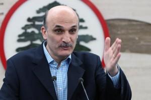 El referente de Fuerzas Libanesas y candidato a la presidencia, Samir Geagea